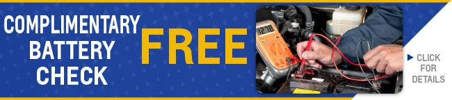 Complimentary Battery Check Coupon, Evansville