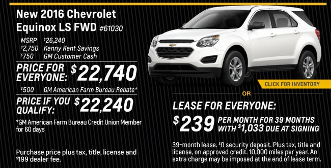 Equinox Offer from Kenny Kent Chevrolet