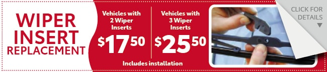 WIPER REPLACEMENT Coupon, Evansville