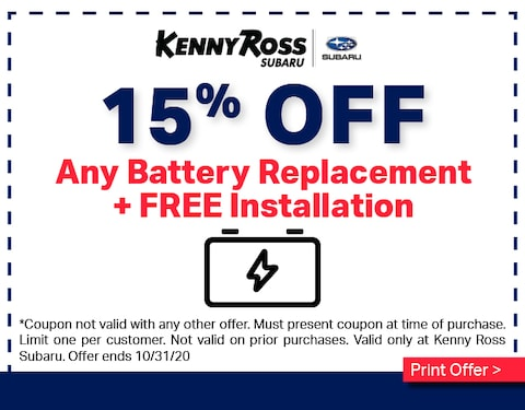 15% OFF Battery Replacement
