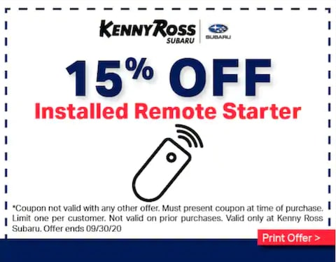 15$ off Installed Remote Starter