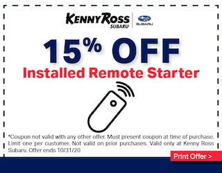 15% Off Installed Remote Starter