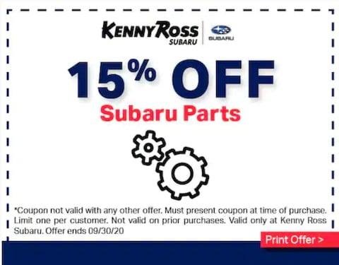 15% OFF Subaru Parts