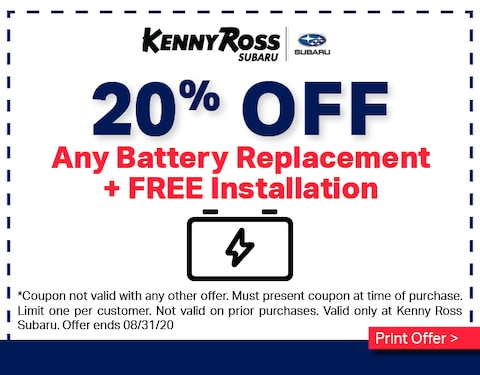 20% OFF Battery Replacement