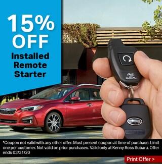 15% Off Installed Remote Starter