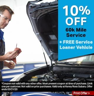 10% OFF 60,000-mile Service