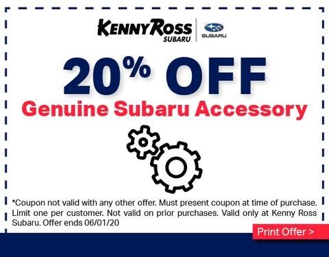 20% Off Genuine Subaru Accessory