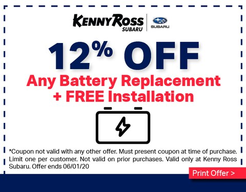 12% OFF Battery Replacement