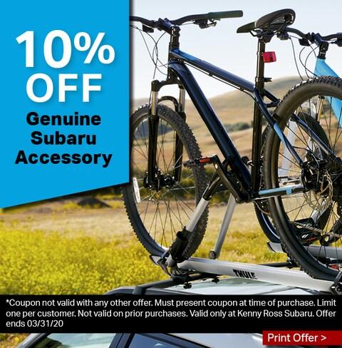 10% Off Genuine Subaru Accessory