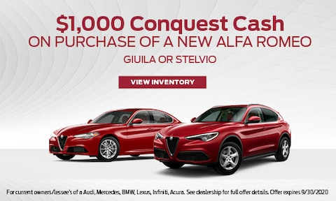$1,000 Conquest Cash on Purchase of A New Alfa Romeo