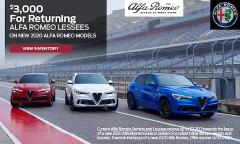 $3,000 For Returning Alfa Romeo Lessees