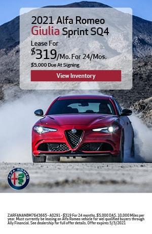 2021 Alfa Romeo Giulia Sprint SQ4