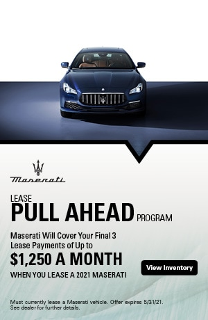 Lease Pull Ahead Program - May Special