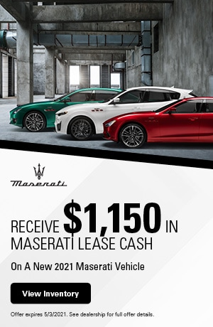 Receive $1,150 In Maserati Lease Cash