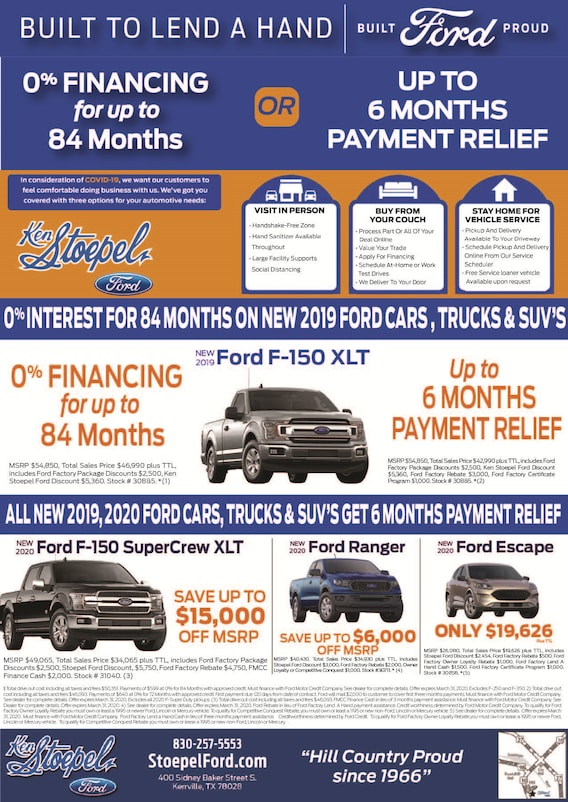 weekly new vehicle specials ken stoepel ford ken stoepel ford