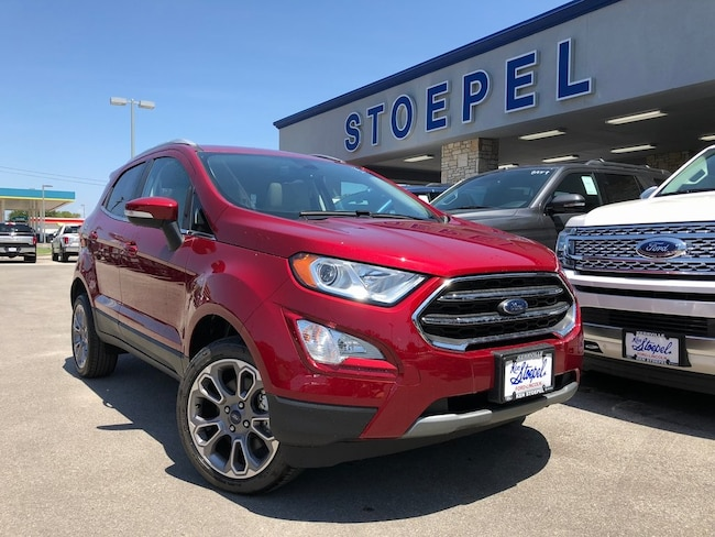 New 2018 Ford EcoSport Titanium SUV For Sale/Lease Kerrville TX