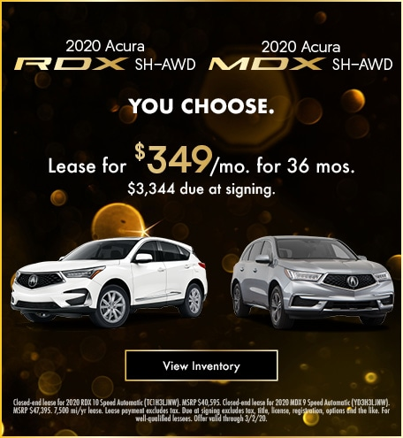 Acura RDX & MDX Lease Offer