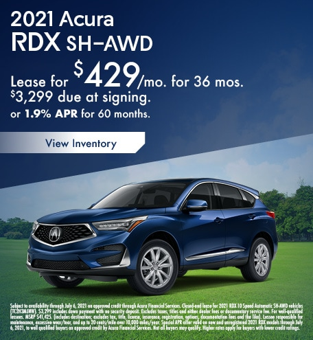 Acura RDX Lease & Finance Special Offer
