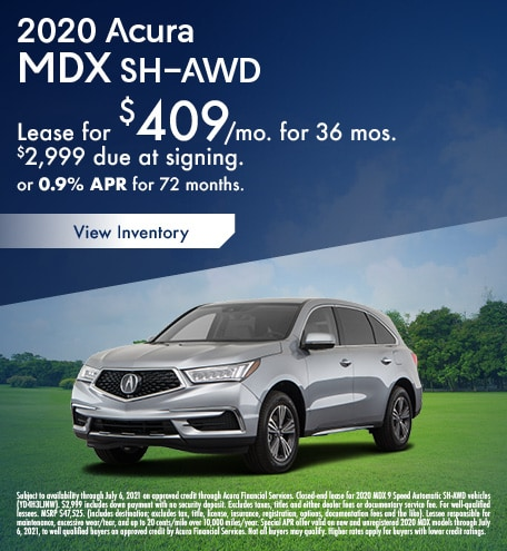 Acura MDX Lease & Finance Special Offer