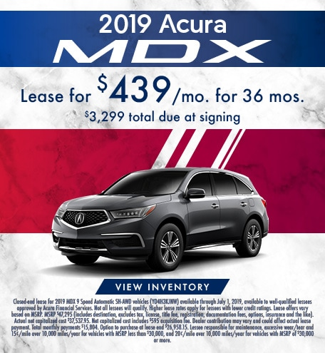Acura MDX Lease Offer