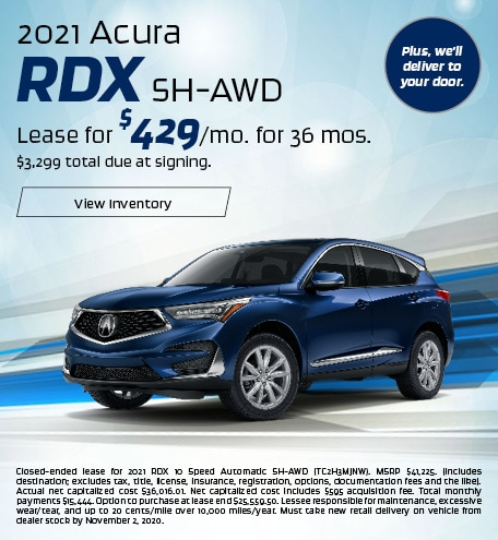 Acura RDX Lease Special Offer
