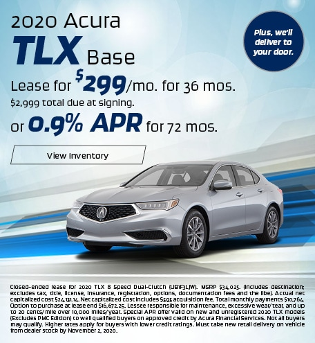 Acura TLX Lease & Finance Special Offer