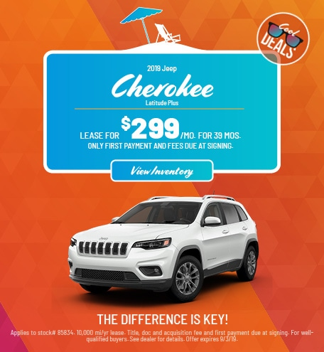 Jeep Cherokee Latitude Plus Lease Offer