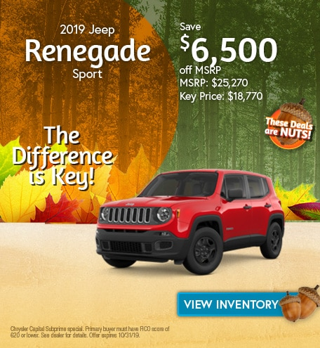Jeep Renegade Sport Special Offer