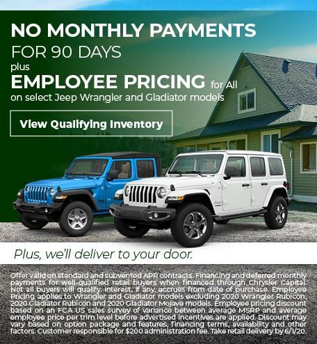 Jeep Wrangler & Gladiator Special Offer