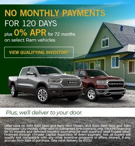Ram Payment Deferral & 0% Financing Offer