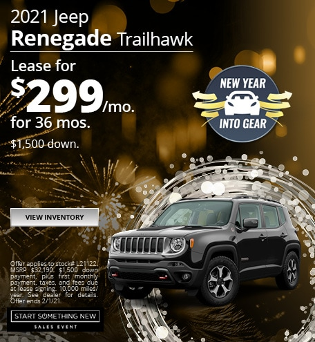 Jeep Renegade Trailhawk Lease Special Offer