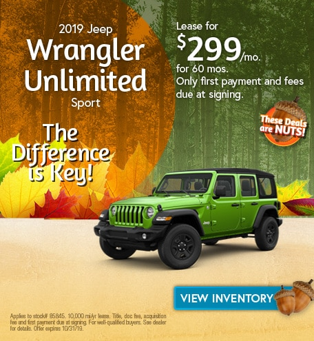 Jeep Wrangler Unlimited Sport Lease Offer