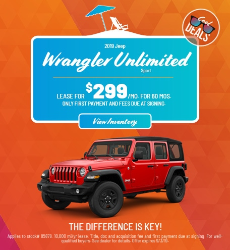 Jeep Wrangler Unlimited Sport Lease Offer
