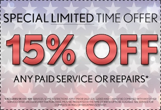 15% off Paid Visit - May 2021