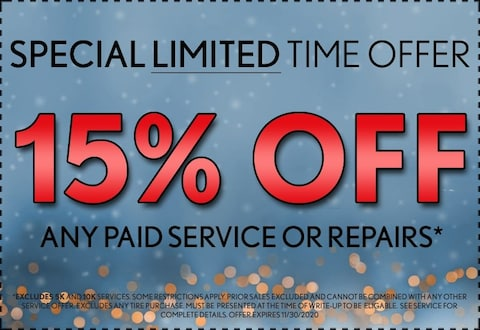 15% Off Any Paid Service or Repairs