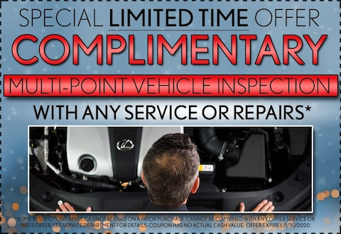 Special Limited Time Offer Complimentary Multi-Point Inspection