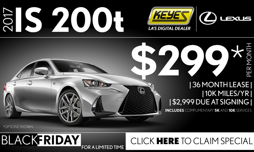 New 2017 Lexus IS 200t Sport Sedan Lease Special Serving Los Angeles, Van  Nuys,
