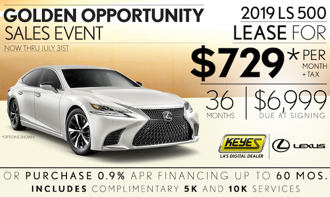 New 2019 Lexus LS Ultra Premium Luxury Sedan Lease Special Serving Los Angeles, Van Nuys, and Beverly Hill, CA