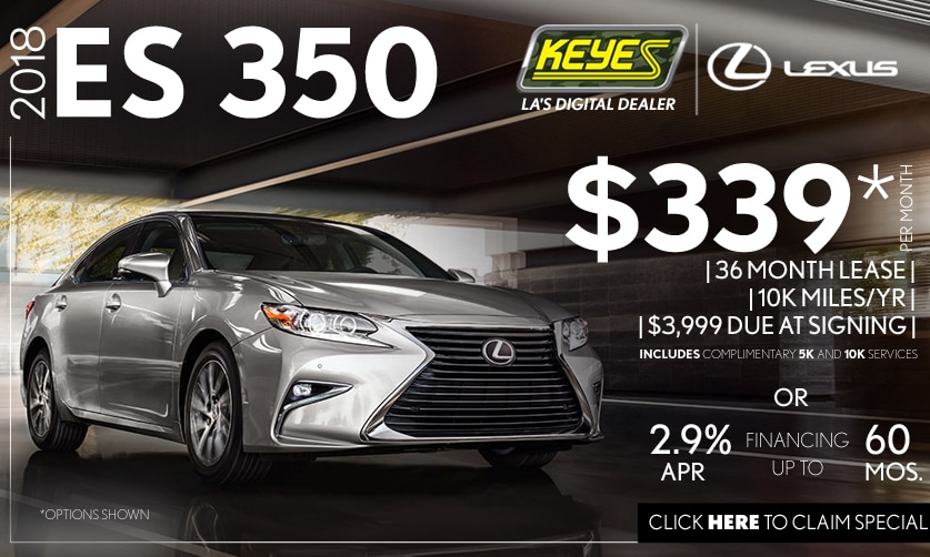 New 2018 Lexus ES 350 Premium Luxury Sedan Lease Special Serving Los Angeles, Van Nuys, and Beverly Hill, CA