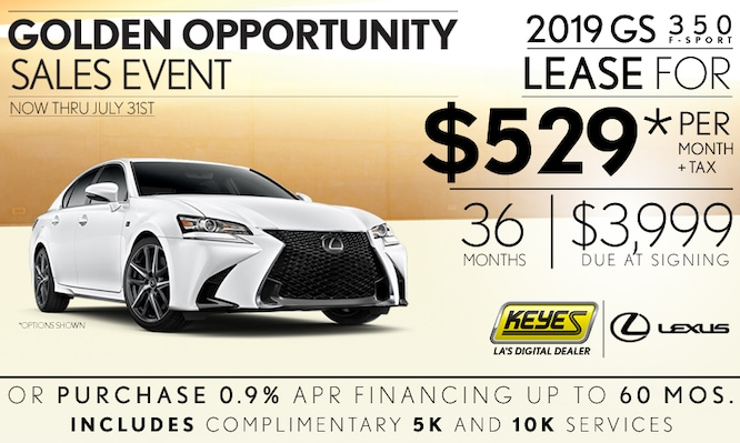 New 2019 Lexus GS 350 F-Sport Performance Premium Luxury Sedan Lease Special Serving Los Angeles, Van Nuys, and Beverly Hill, CA
