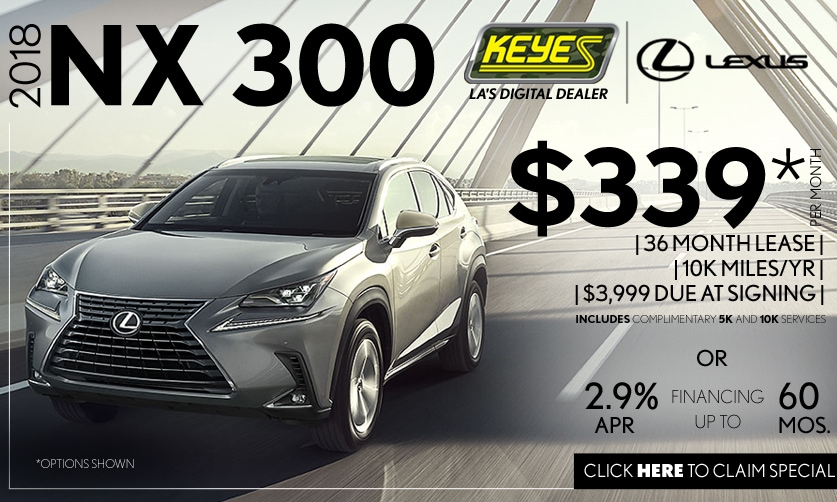 New 2018 Lexus NX 300 Premium Luxury SUV Lease Special Serving Los Angeles, Van Nuys, and Beverly Hill, CA