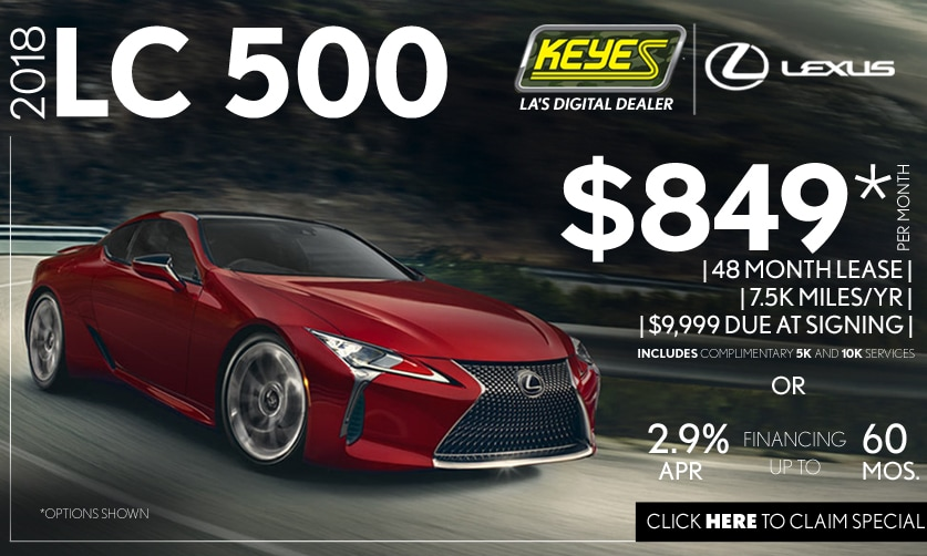 New 2018 Lexus LC 500 Premium High Performance Luxury Coupe Lease Special Serving Los Angeles,Van Nuys,and Beverly Hill, CA