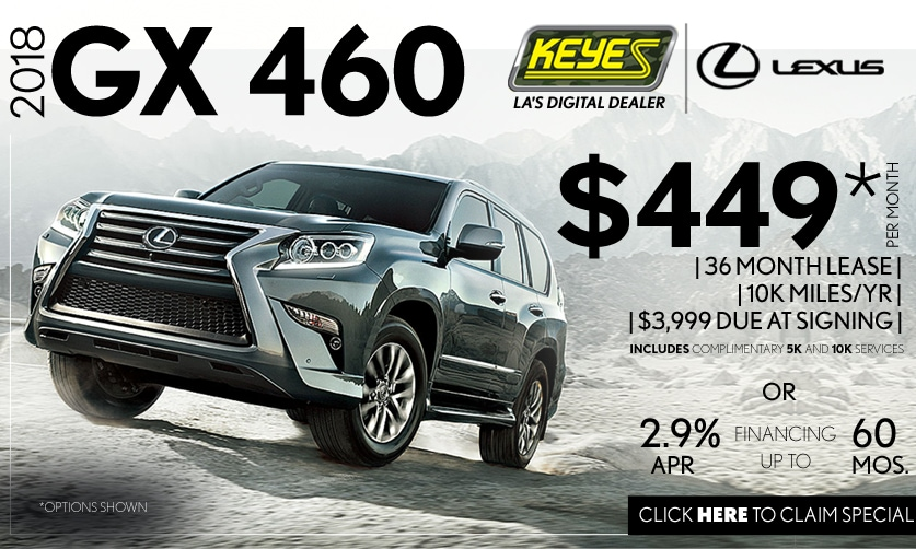 New 2018 Lexus GX 460 Premium Luxury Lease Special Serving Los Angeles, Van Nuys, and Beverly Hill, CA