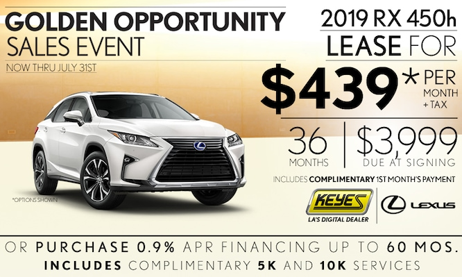 New 2019 Lexus RX 450h Premium Luxury SUV Hybrid Lease Special Serving Los Angeles,Van Nuys,and Beverly Hill, CA