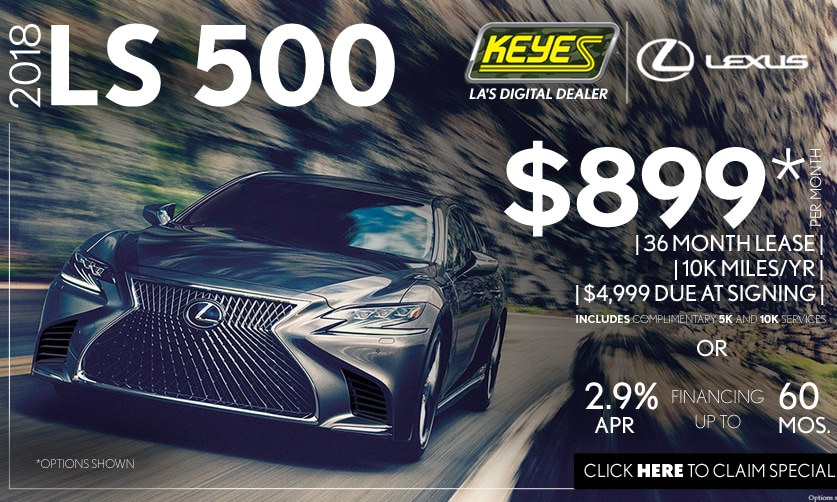 New 2018 Lexus LS 500 Premium Luxury Sedan Lease Special Serving Los Angeles, Van Nuys, and Beverly Hill, CA