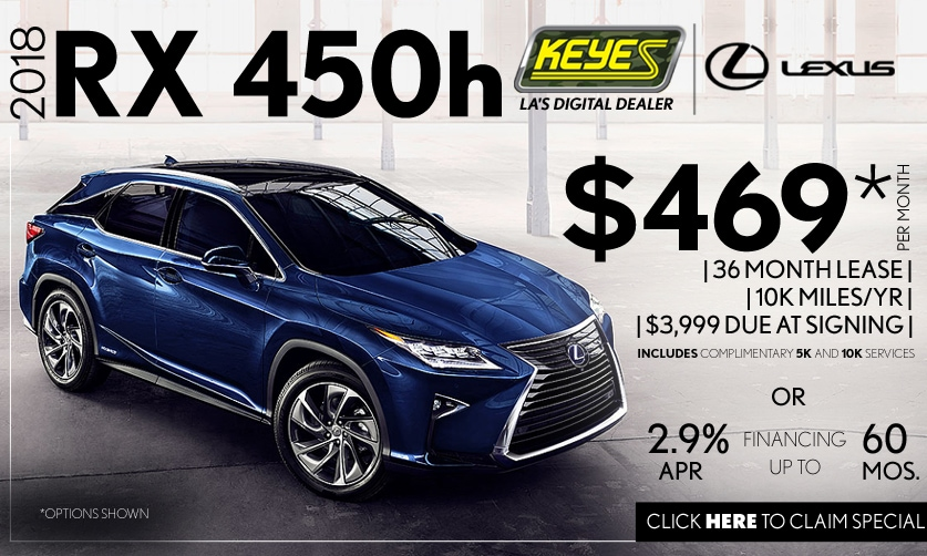 New 2018 Lexus RX 450h Premium Luxury SUV Hybrid Lease Special Serving Los Angeles,Van Nuys,and Beverly Hill, CA