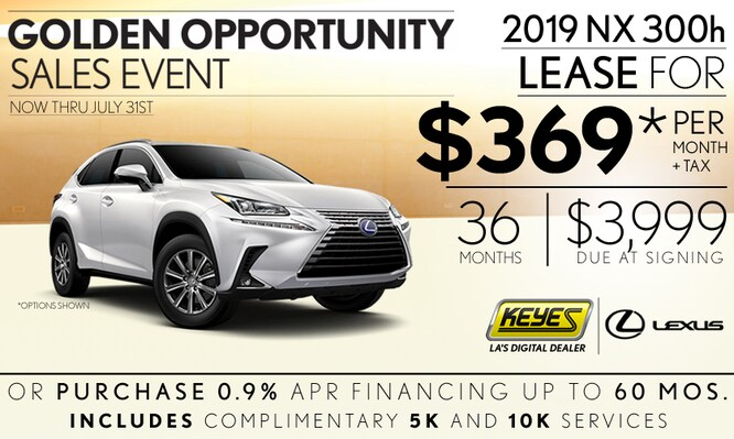 New 2019 Lexus NX 300h Premium Luxury SUV Hybrid Lease Special Serving Los Angeles, Van Nuys, and Beverly Hill, CA