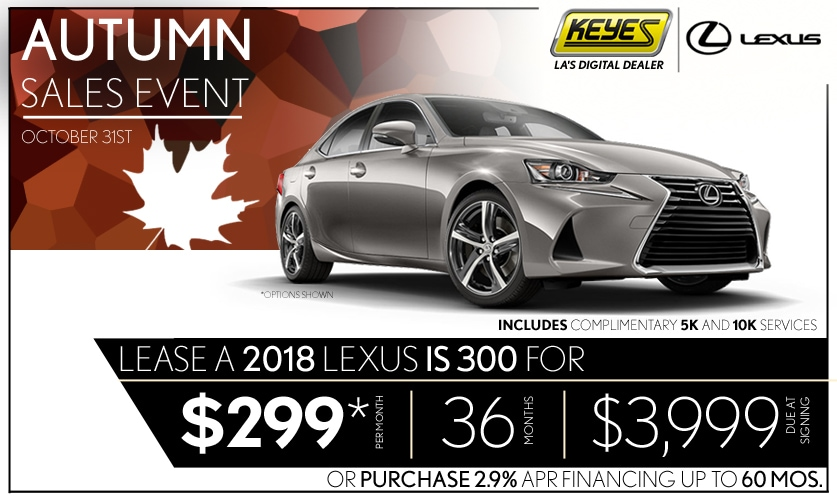 New 2018 Lexus IS 300 Sport Sedan Lease Special Serving Los Angeles, Van  Nuys,