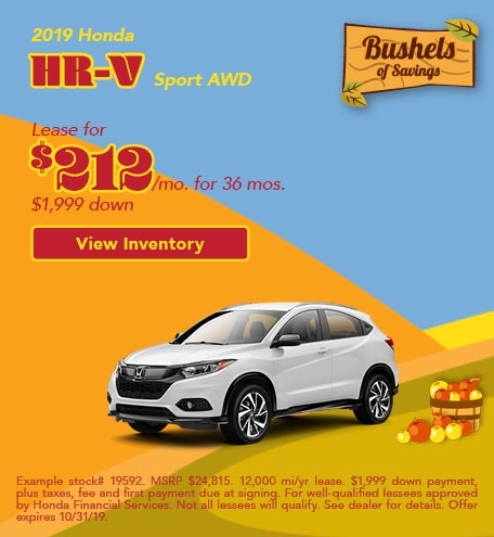 Honda HR-V Sport Lease Offer