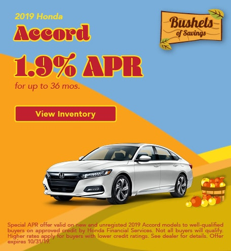 Honda Accord Financing Offer